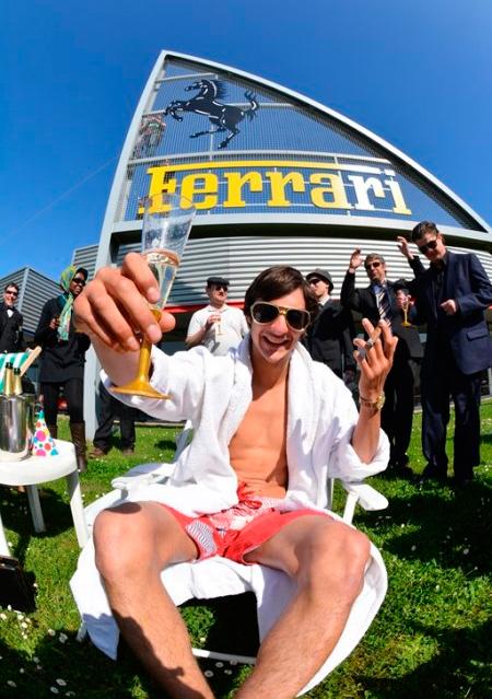 Ferrarik irabazi ponposoak lortu izana ganoraz ospatu beharra zegoen...