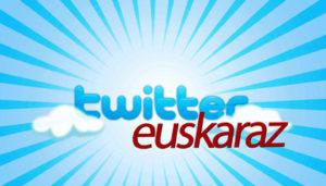 Twitter euskaraz eskatzeko kanpainaren irudietako bat