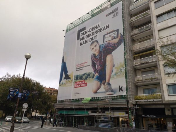 Kutxabanken publizitatea garbitasunaren adibide gisa.