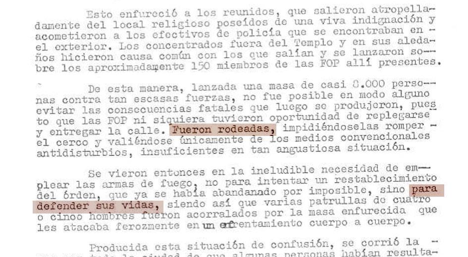 Duela 40 urteko polizia-txostenetan erabilitako argudio bera erabili du Oyarzabalek.